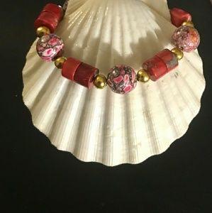 Jewelry - ♥️Red♥️Sea♥️Sediment♥️Jasper♥️Bracelet♥️